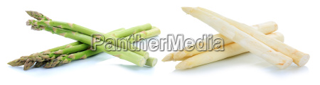 fresh green and white white asparagus