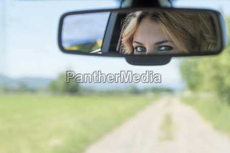 the eyes of the young driver