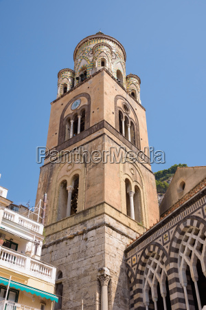 the bell tower of amalfi cathedral
