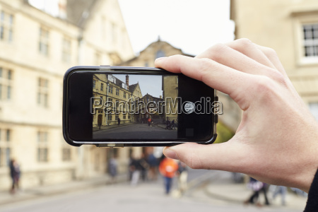 oxford uk october 26 2016tourist photographing