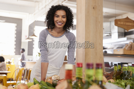 portrait of female owner of organic