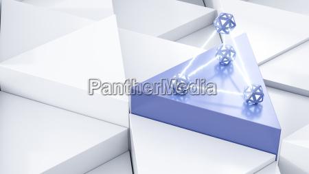 energy pyramid 3d rendering
