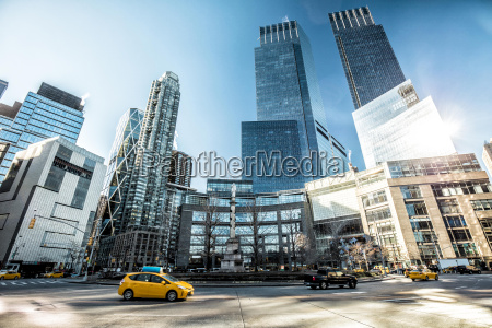 usa new york city traffic on