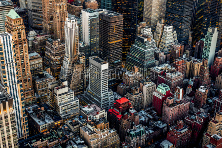 usa new york city downtown skyscrapers