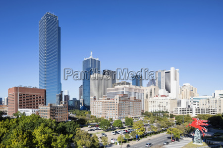 usa texas dallas skyline