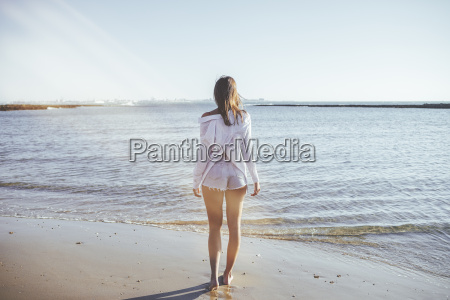 back view of woman on the