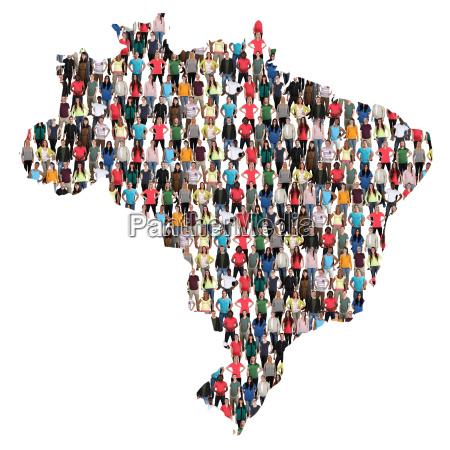 brazil map people people people group