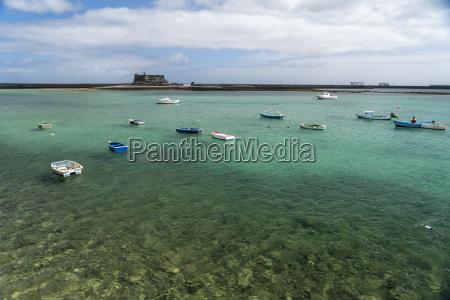 spain lanzarote arrecife fishing harbour and