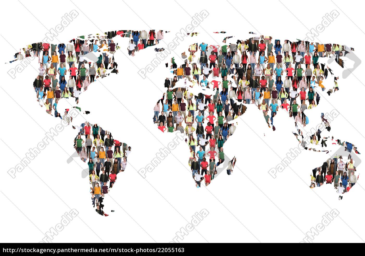 Karte Erde.Stockfoto 22055163 Welt Erde Weltkarte Karte Leute Menschen People Gruppe