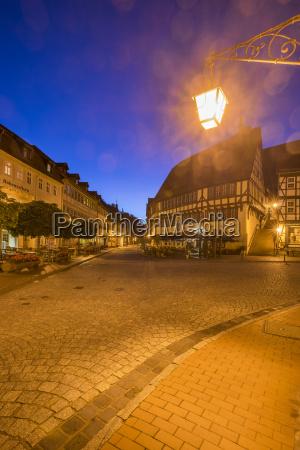 deutschland sachsen anhalt stolberg bei nacht
