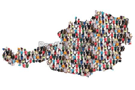austria map people people people group