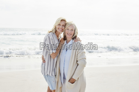 senior woman and her adult daughter