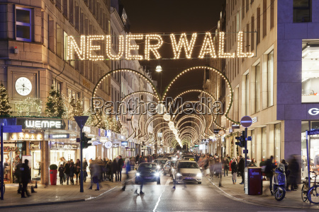 neuer wall street with christmas decoration