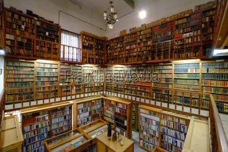 the ancient library monastery of santa