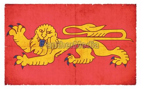 grunge flagge aquitaine frankreich
