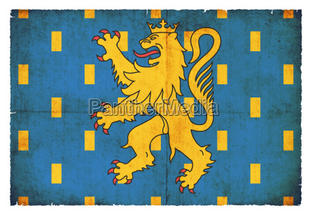 grunge flagge franche comte frankreich