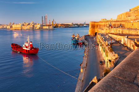 valletta and the grand harbor at