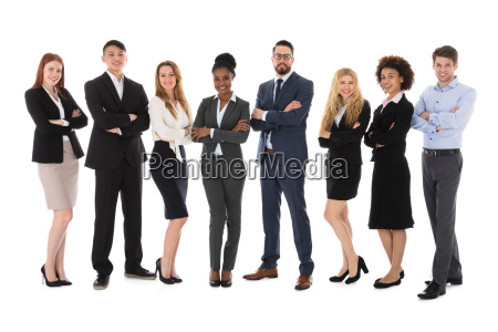 businesspeople isolated on white background