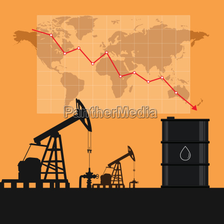 oil industry concept oil price falling