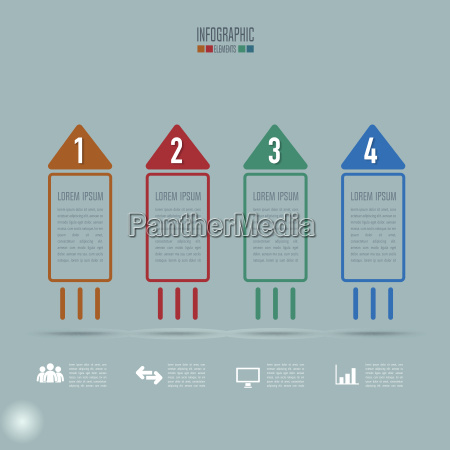 creative concept for infographic rocket shape