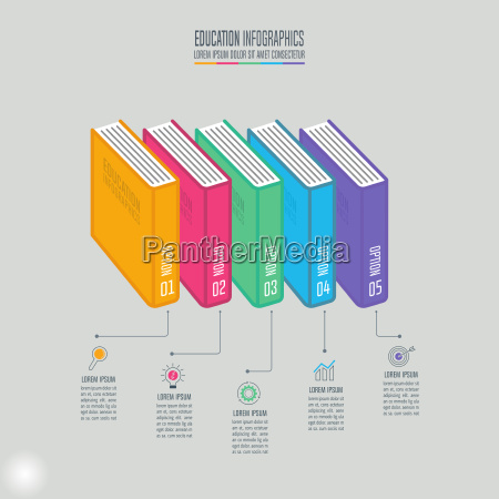 education infographics template 4 step option