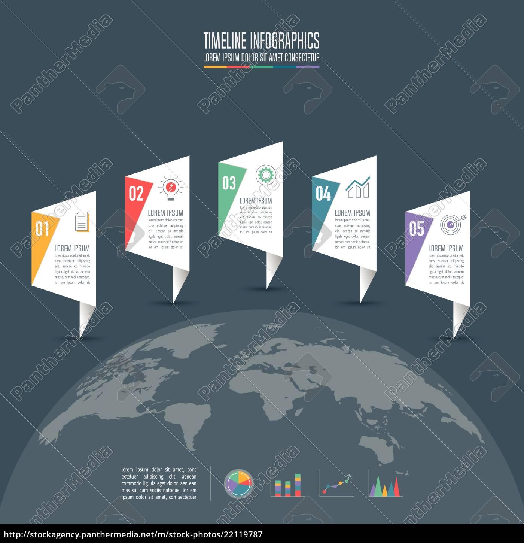 kreatives, konzept, für, infografik., timeline, infografik-design - 22119787