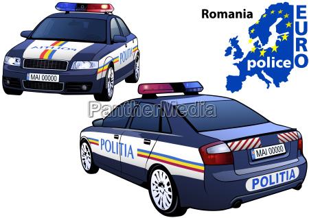 rumaenien polizeiauto