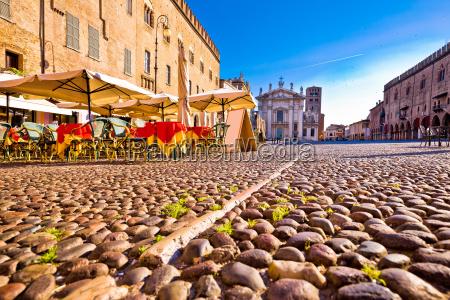 mantova city paved piazza sordello and