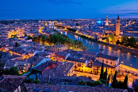 city of verona and adige river