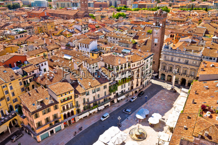 city of verona aerial view from
