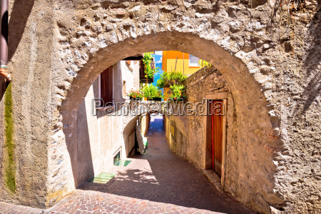 old stone street of limone sul