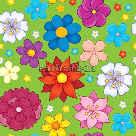 seamless background flower theme 5