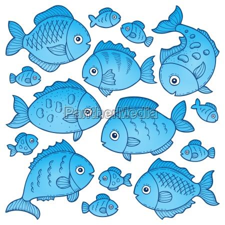 fish drawings theme image 2