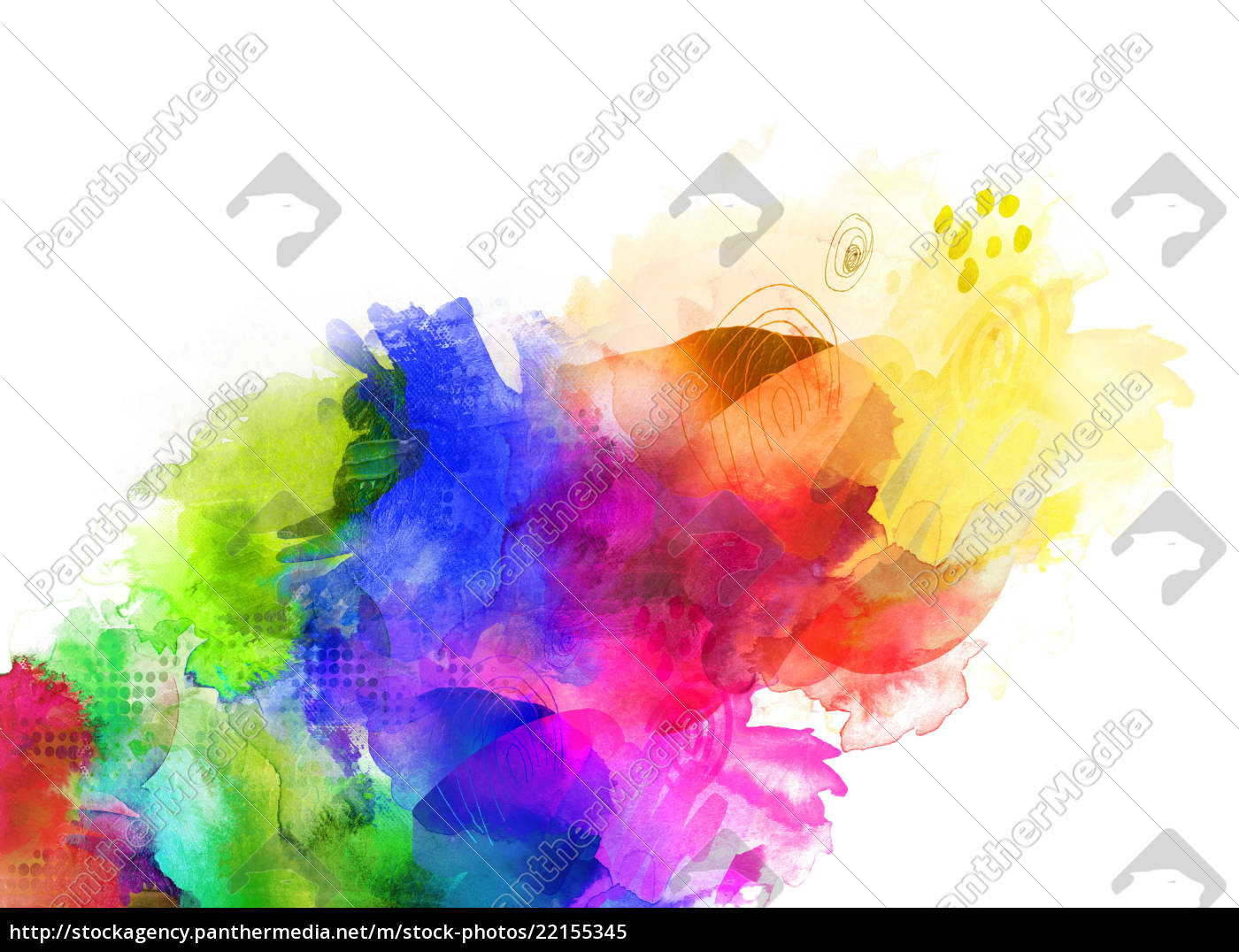 Farben Texturen Regenbogen Konzept Stockfoto 22155345