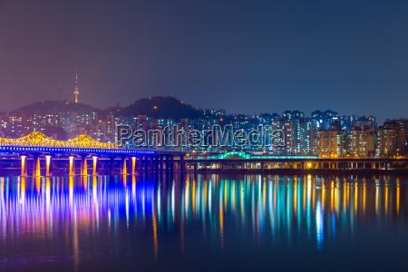south korea cityscape