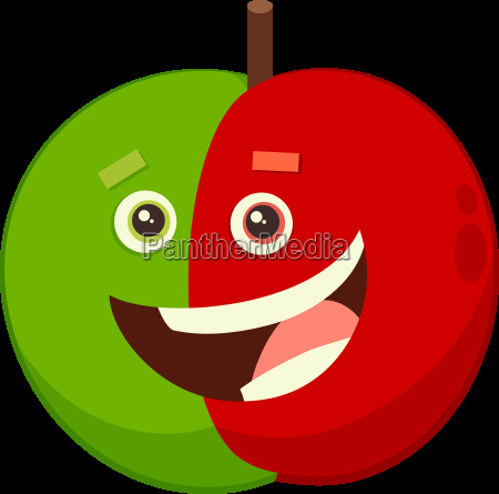 cartoon apple fruit character