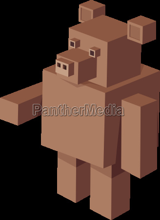 cubical bear cartoon character