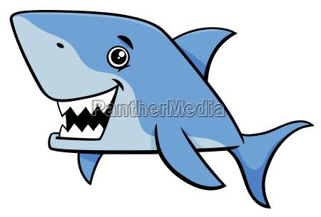 shark fish cartoon character
