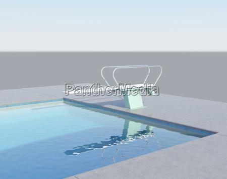 sprungbrett im schwimmbad