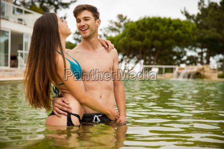 ritratto estate flirtare contento felice entusiasta