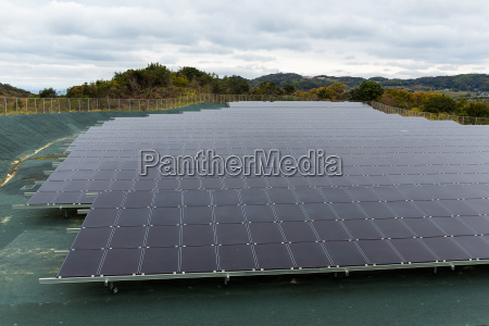 solar power plant at countryside