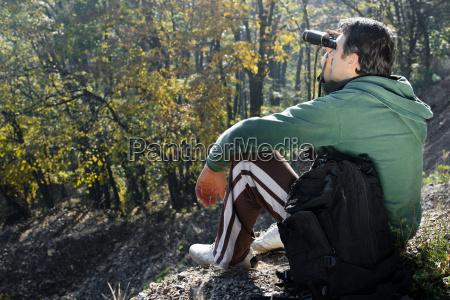 abenteuer rucksack fernglas bergsteigerei natur