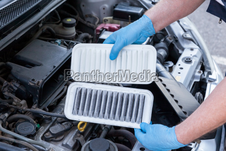 car engine air filters dirty and