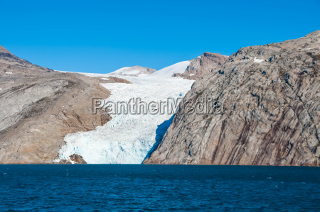 gletscherzunge auf groenland