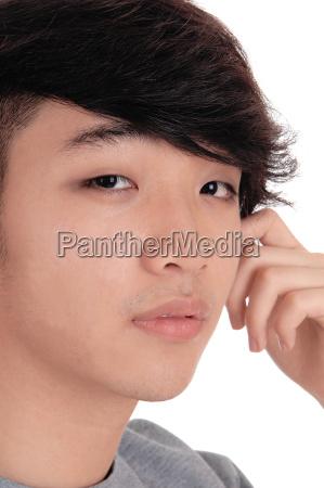 closeup portrait of asian man