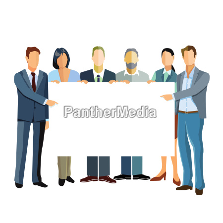 group of business people presenting a