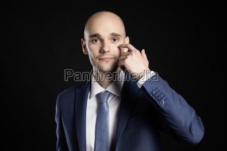 man improves eye
