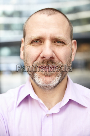 face of middle aged man