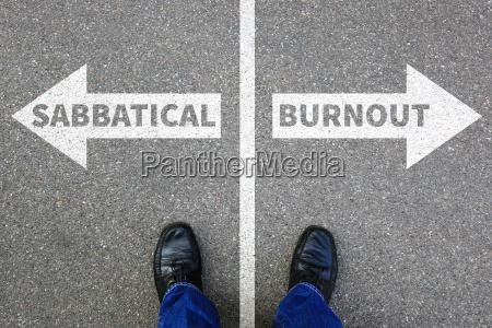 sabbatical burnout stress erholung auf arbeit
