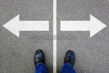 entscheidung entscheiden business konzept ziele erfolg